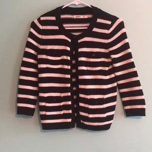 Black and white stripes old navy cardigan